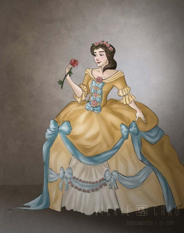 disney-ilustracao-princesasnoivas-historicas-bela